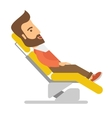 Man lying in dentist chair vector image