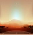 mars fantastic landscape vector image vector image