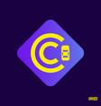 modern professional logo monograma c in purple vector image vector image