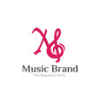 music brand logo designs simple modern vector image