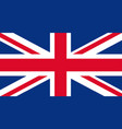 national flag british uk beautiful vector image vector image