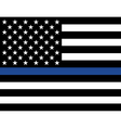 Police Law Enforcement American Flag vector image vector image