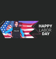 police officer in uniform happy labor day vector image vector image