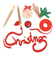 Preparing for Christmas card and Christmas decorat vector image vector image