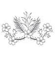 rustic wreath crown icon vector image vector image