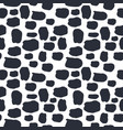 Seamless pattern dalmation and cow skin in black