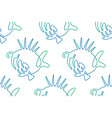 seamless pattern from continuous line art fish vector image vector image
