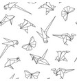seamless pattern with origami animals vector image