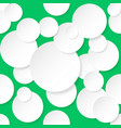 seamless texture circles for design on green vector image vector image