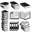 set icons books vector image