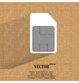 SIM card Flat modern web button on a flat vector image