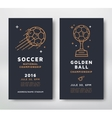 Soccer championship card vector image vector image