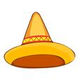 sombrero straw hat vector image