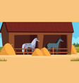 stable for horse care for domestic animal strong vector image vector image