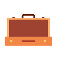 Suitcase for clothes icon flat isolated