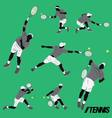 tennis cool pose vector image vector image