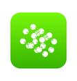 triple molecule icon green vector image vector image