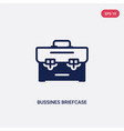 two color bussines briefcase icon from business vector image vector image
