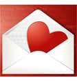 Valentines heart in envelope vector image vector image