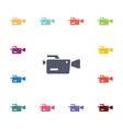 video camera flat icons set vector image vector image