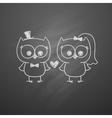 wedding owls vector image vector image