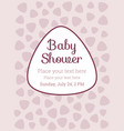 baby shower birthday party invitation card vector image
