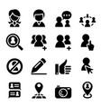social network icon vector image