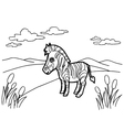 zebra cartoon coloring pages vector image