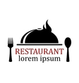 restaurant icon with dish vector image