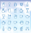 25 drinks icons set vector image vector image