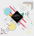 abstract of colorful modern memphis geometric vector image