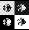 air conditioner icon isolated on black white and vector image
