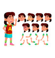 asian girl child kid teen schoolchild vector image vector image