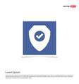 badge icon - blue photo frame vector image