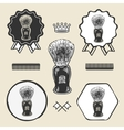 Barber shaving brush beard symbol emblem label vector image