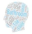 Bathroom Tile Ideas For Bathroom Floor Tile text vector image vector image