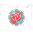 break up love line icon divorce sign vector image vector image