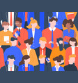 business people crowd pattern office colleague vector image vector image