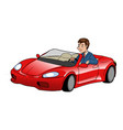 businessman driving sport car vector image