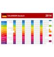 Calendar 2014 German Type 14 vector image vector image