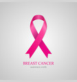 cancer ribbon breast woman women pink charity help vector image