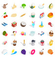 candy icons set isometric style vector image vector image