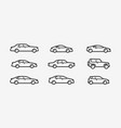 car icon set transport transportation symbol in vector image vector image