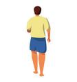 Cartoon young man walking