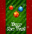 Christmas Greeting Card christmas balls vector image vector image