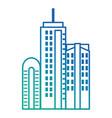 cityscape futuristic buildings icon vector image vector image