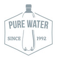 clean pure water logo simple gray style vector image