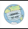 coronavirus world health earth human epidemic dang vector image