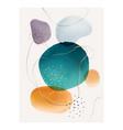 creative paintbrush spots watercolor blotch blots vector image vector image
