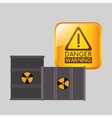 danger warning design vector image